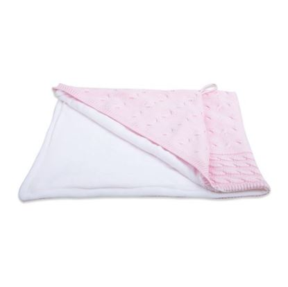 Afbeeldingen van Baby's Only : Cable Collection - Badcape - Chenille - Pink