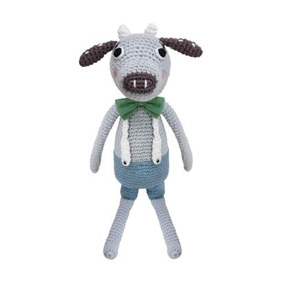 Afbeeldingen van Sebra : Crochet Animal - Cow Carl
