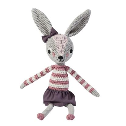 Afbeeldingen van Sebra : Crochet Animal - Rabbit - Roberta
