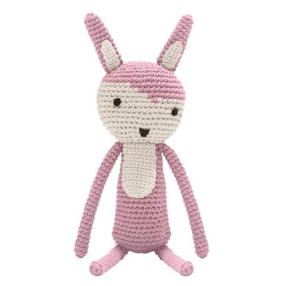 Afbeeldingen van Sebra : Crochet Animal - Rabbit - Vintage Rose