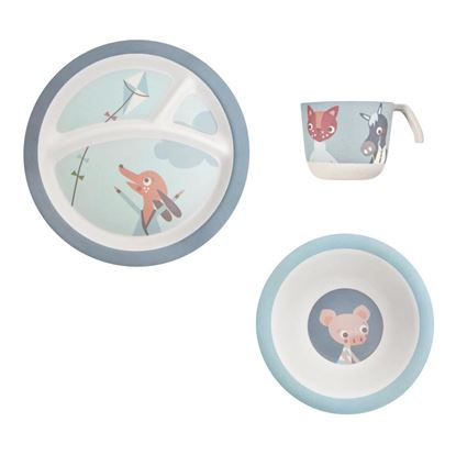 Afbeeldingen van Sebra : Bamboo Dinner Set - Farm Boy - 3 Pcs.
