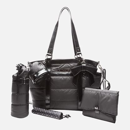 Afbeeldingen van Mayoral : Baby changing bag in microfiber and leatherette with accesories - Negro