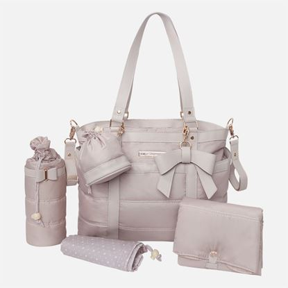 Afbeeldingen van Mayoral : Baby changing bag in microfiber and leatherette with accesories - Topo