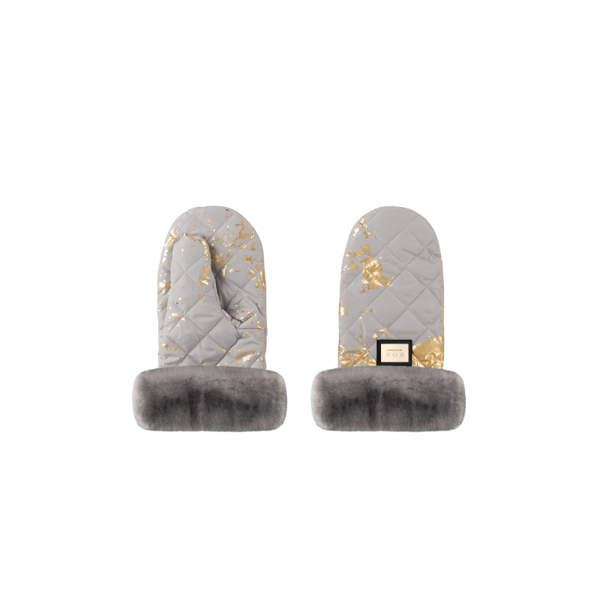 Afbeelding van B.O.S. : Stroller Handmuff - Grey Golden Collection